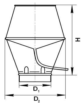 НВК 400 - насадок с водоотводящим кольцом